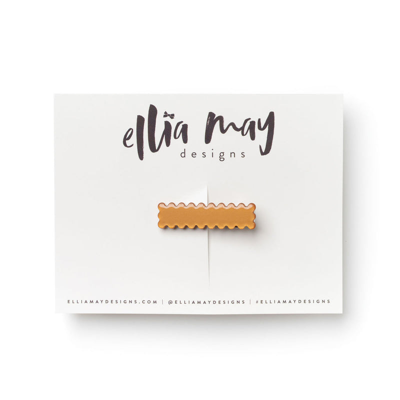 Cinnamon - Mini Scalloped Bar Clip