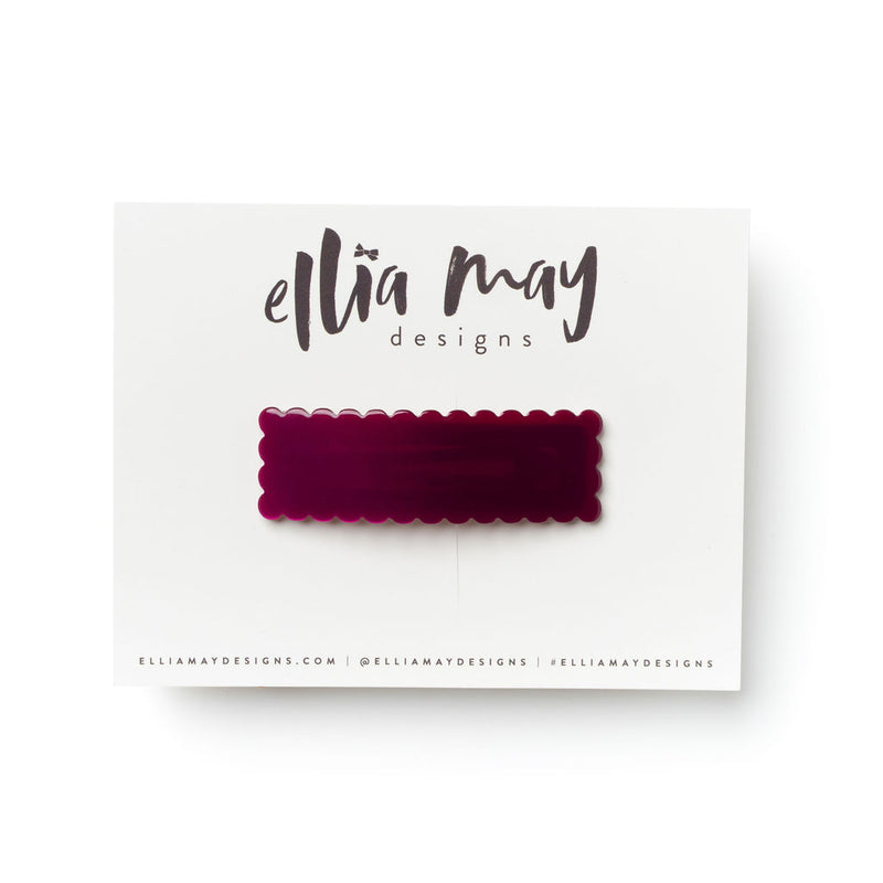 Cranberry - Scalloped Snap Clip