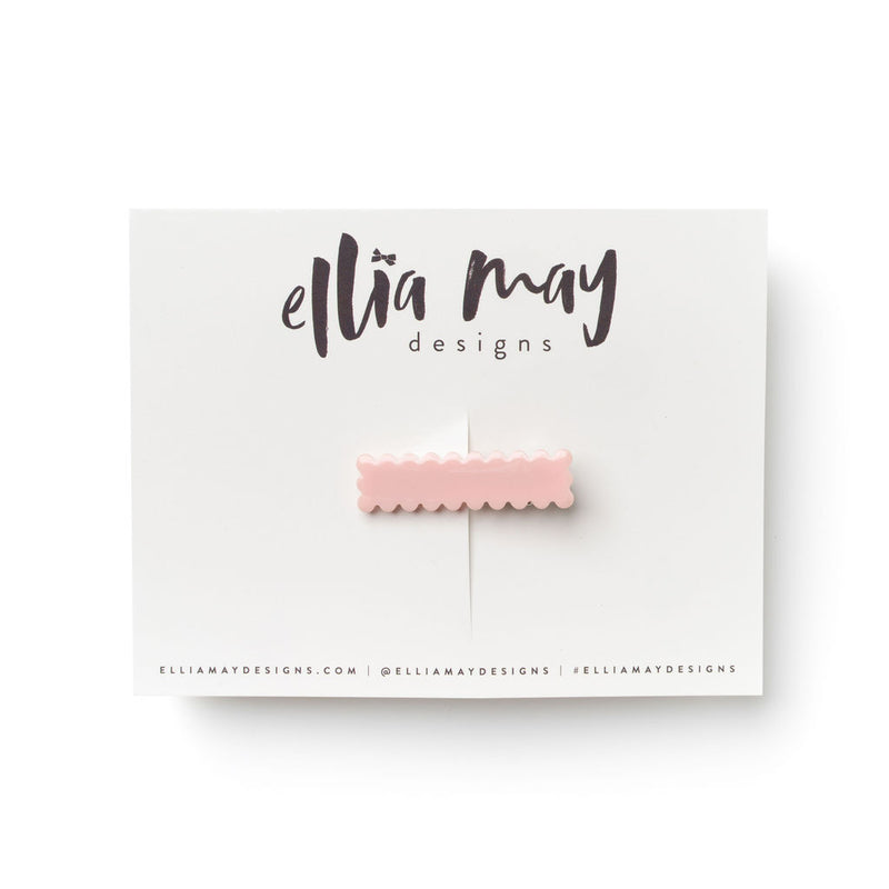 Crepe - Mini Scalloped Bar Clip