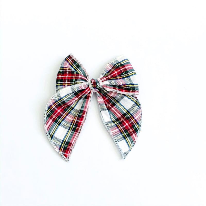 Traditional Christmas Plaid White - Medium Fairytale
