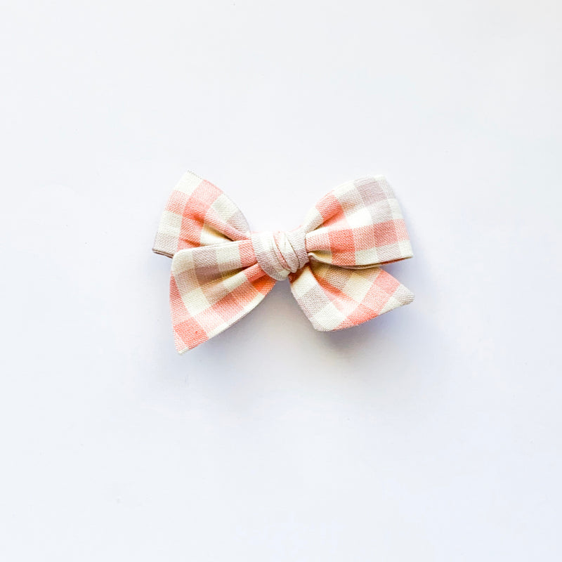 Pink and Grey Plaid - Mini Twirl