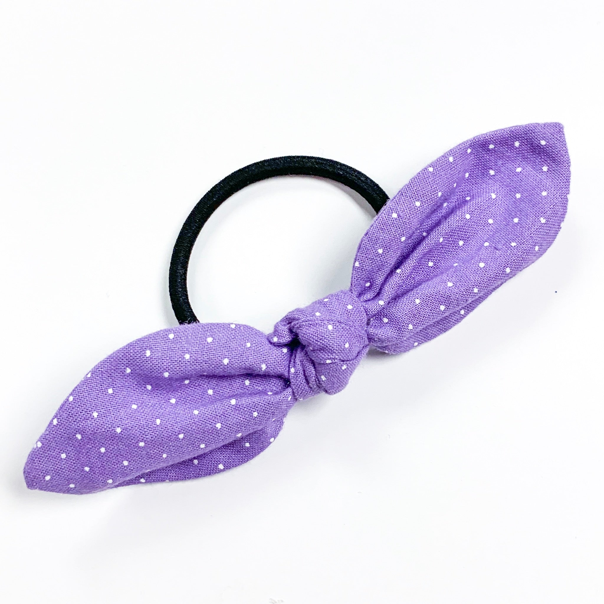 Purple with White Dots - Hair Tie – Ellia May Designs 2f66798eb64