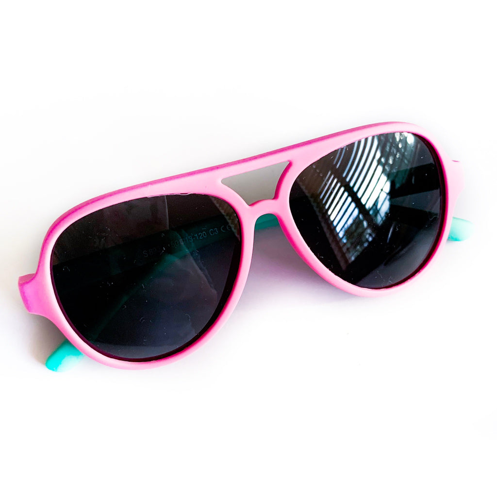 Color Block Sunnies - Pink / Teal