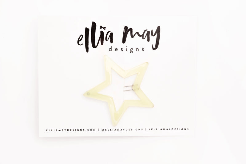 Glow in the Dark Star - Star Barrette