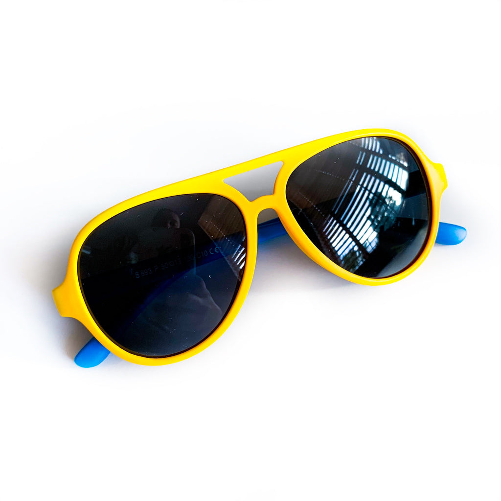 Color Block Sunnies - Yellow / Blue