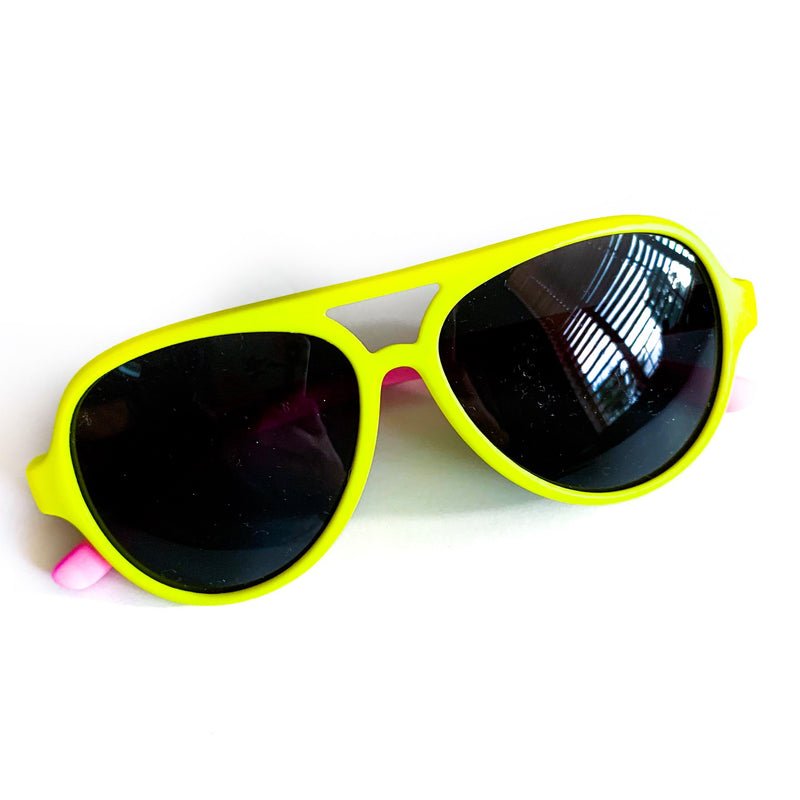 Color Block Sunnies - Yellow / Pink