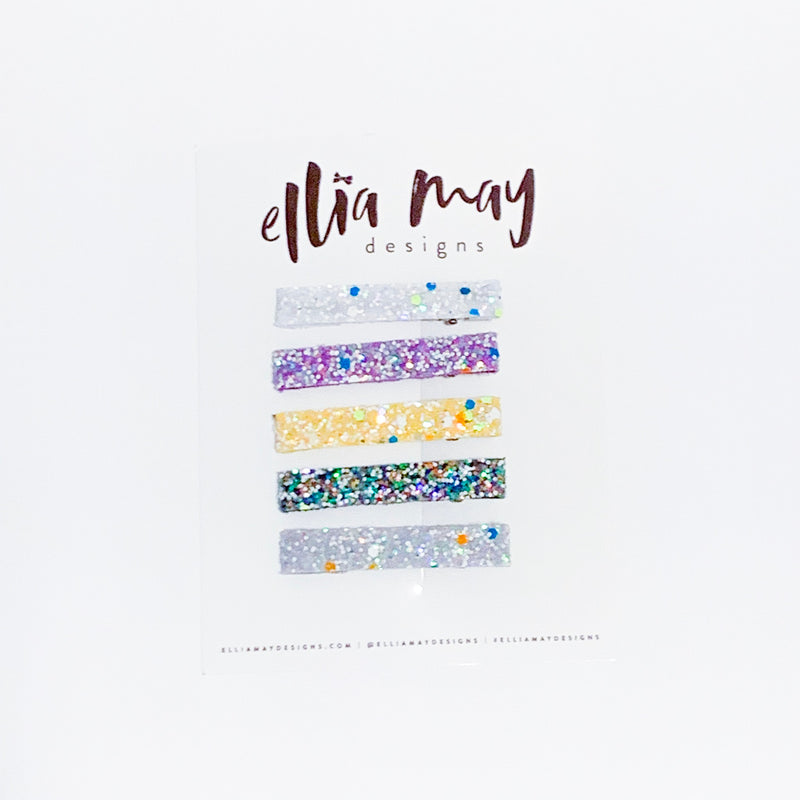 Glow In the Dark Glitter Bar Clip Bundle