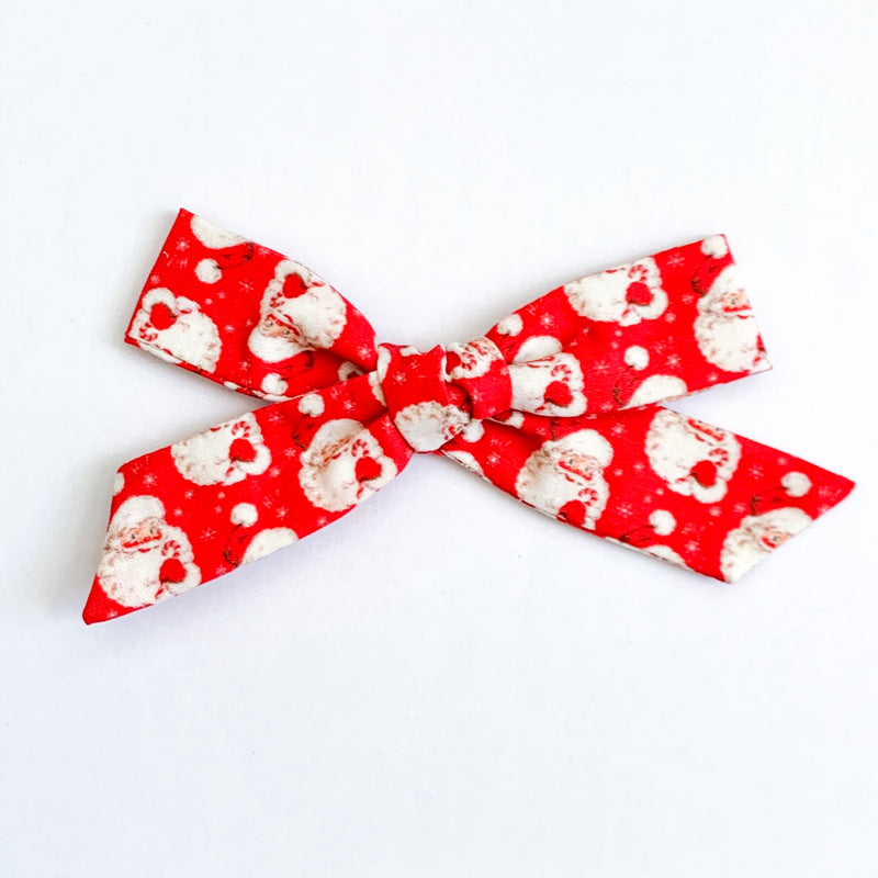 Red Vintage Santa - Oversized Knot