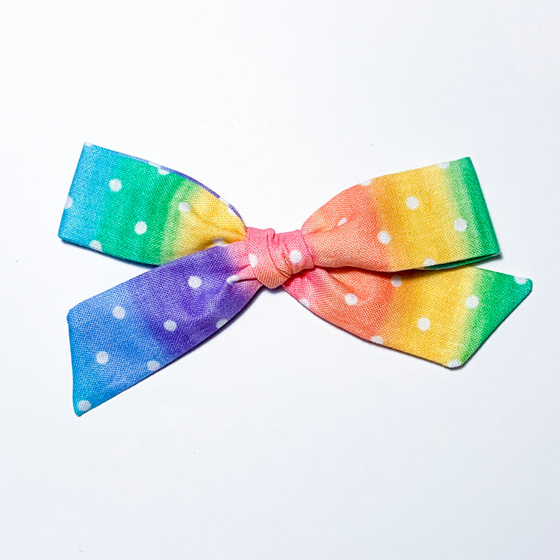 Rainbow Dots - Oversized Knot