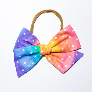 Rainbow Dots - Oversized Twirl