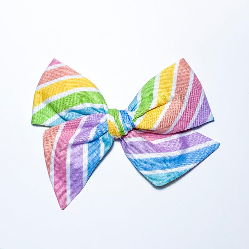 Rainbow Stripes - Oversized Twirl