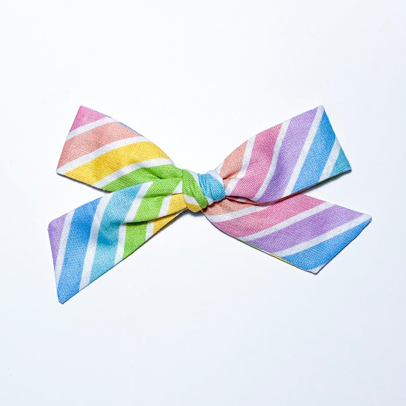 Rainbow Stripes - Oversized Knot