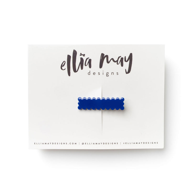 Indigo - Mini Scalloped Bar Clip