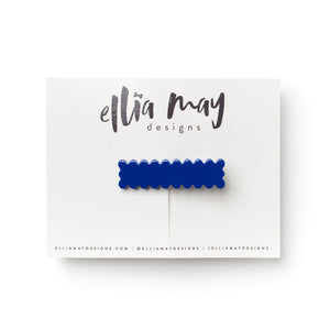 Indigo - Scalloped Bar Clip