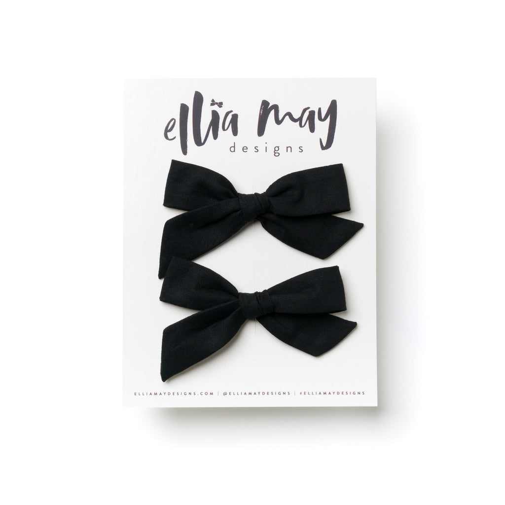 Black - Mini Knot Piggie Clips
