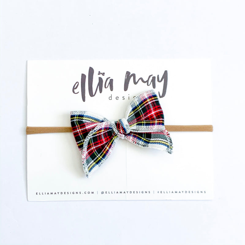 Traditional Christmas Plaid White - Mini Fairytale