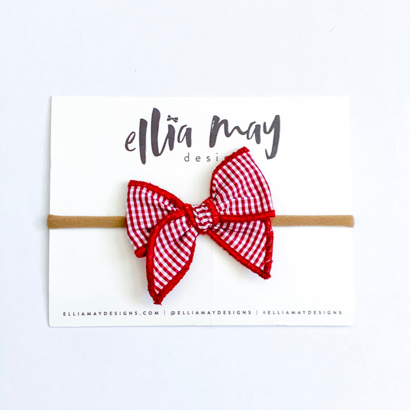Red & White Mini Check - Mini Fairytale