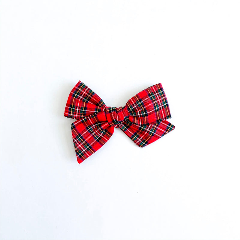 Traditional Holiday Plaid in Red - Mini Twirl