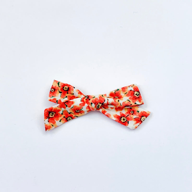 Orange Floral - Mini Knot