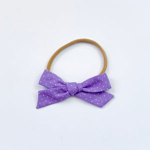 Purple with White Dots - Mini Knot