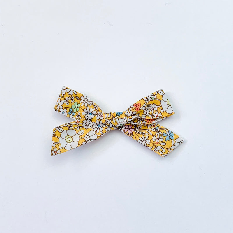 Liberty Yellow and White Floral - Mini Knot