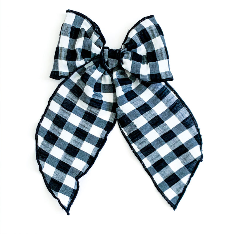 Black & White Gingham Check - Oversized Fairytale