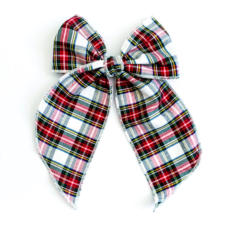 Traditional Christmas Plaid White - Oversized Fairytale
