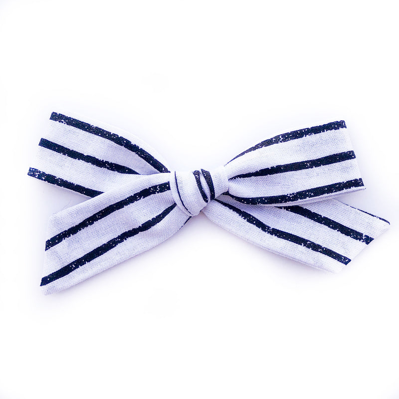 Black on White Stripes - Oversized Knot