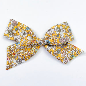 Liberty Yellow and White Floral - Oversized Knot