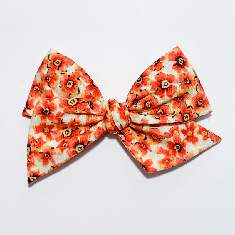 Orange Floral - Oversized Twirl