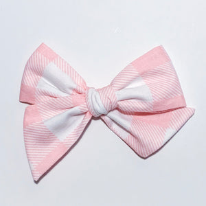 Pink Gingham Large - Oversized Twirl