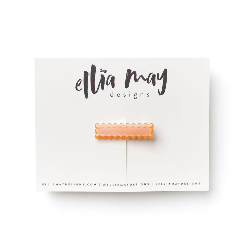 Persimmon - Mini Scalloped Bar Clip