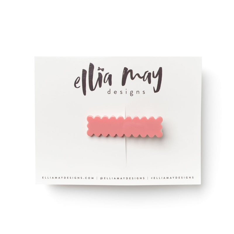 Prairie Pink - Scalloped Bar Clip