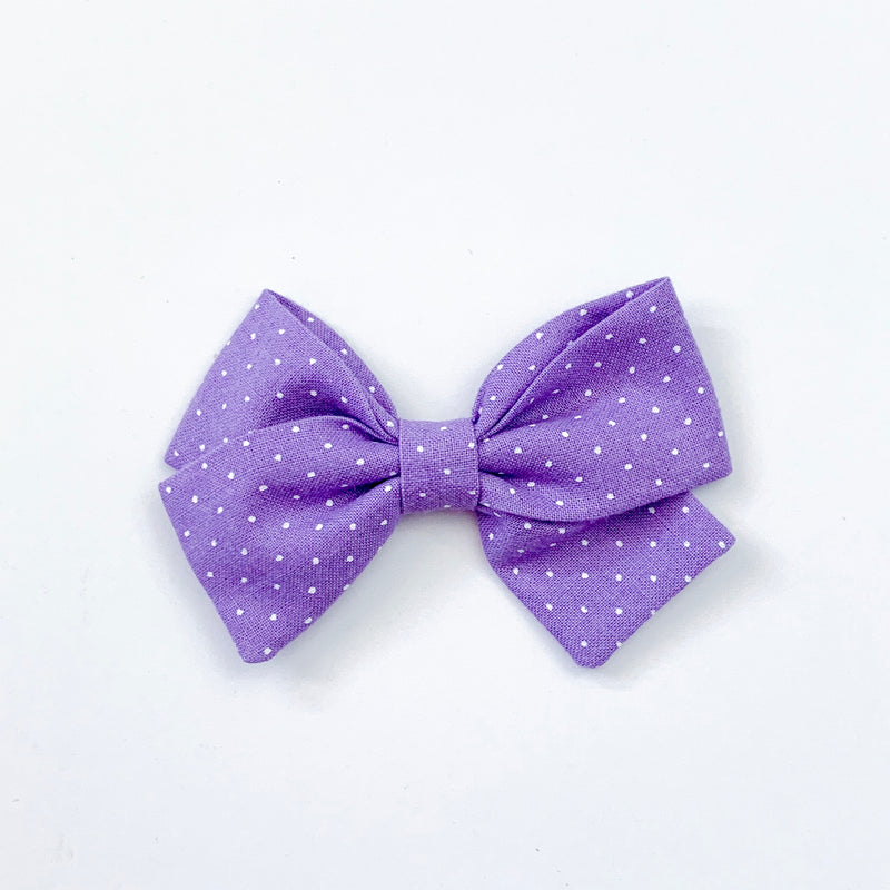 Purple with White Dots - Sailor Bow