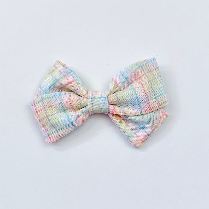 Pastel Plaid - Sailor Bow