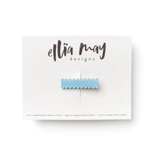 Sky - Mini Scalloped Bar Clip