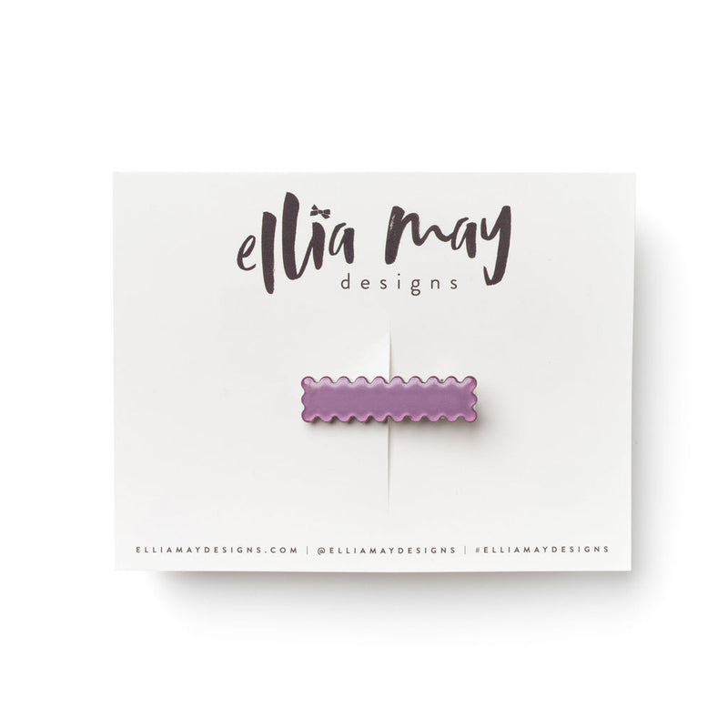 Sugarplum - Mini Scalloped Bar Clip