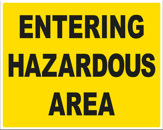 Entering Hazardous Area - Markit Graphics