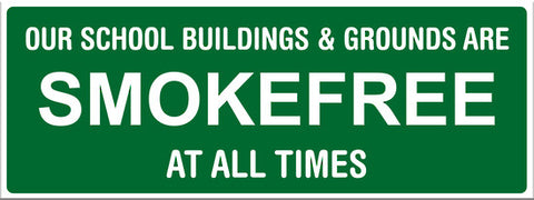 Our School and Buildings are smokefree at all times - Markit Graphics