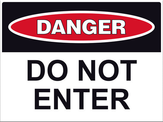 Danger Do Not Enter Sign - Markit Graphics
