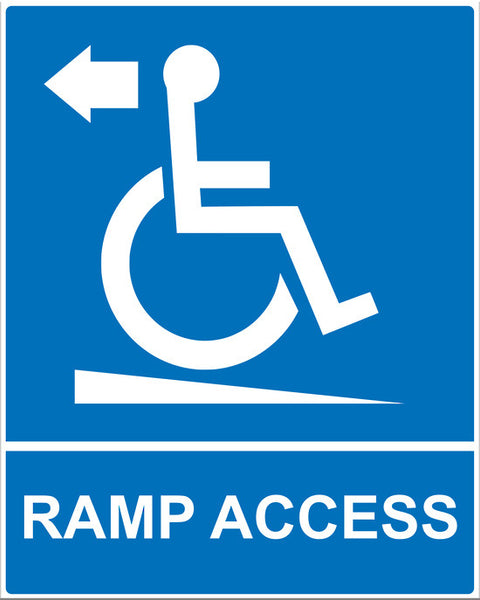 Ramp Access Down Sign - Markit Graphics