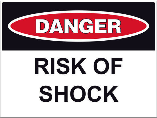 Danger Risk of Shock Sign - Markit Graphics