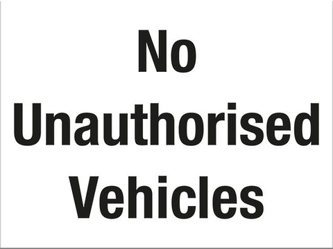 No Unauthorised Vehicles - Markit Graphics