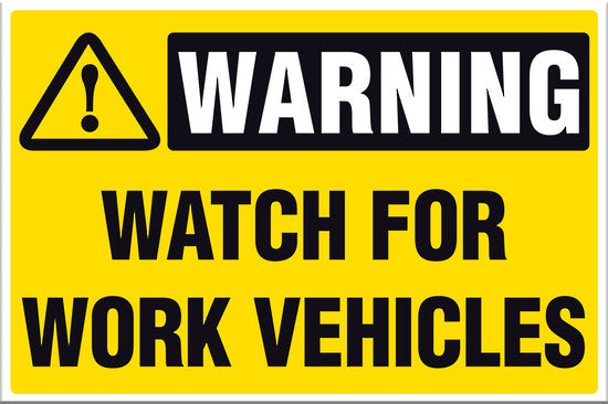 Warning Watch For Work Vehicles - Markit Graphics