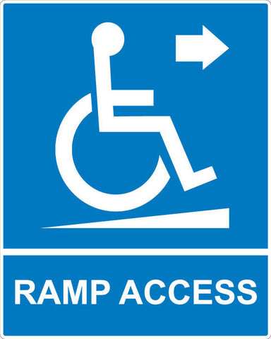 Ramp Access Up Sign - Markit Graphics