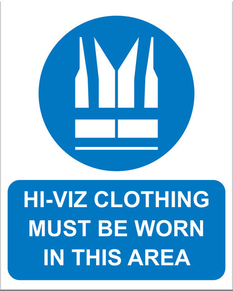 Hi Viz Clothing Must Be Worn - Markit Graphics