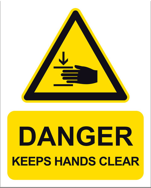 Danger Keep Hands Clear - Markit Graphics