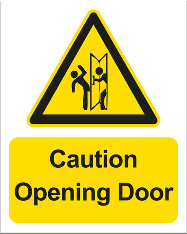 Caution Opening Door Sign - Markit Graphics
