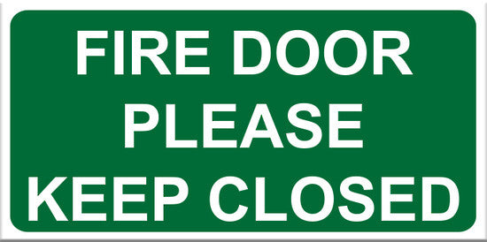 Fire Door Please Keep Closed Sign - Markit Graphics