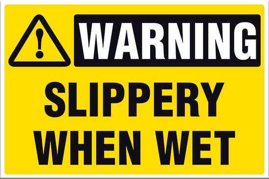 Warning Slippery When Wet - Markit Graphics